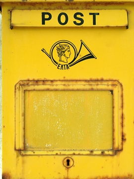 Mail post box, Greece.
